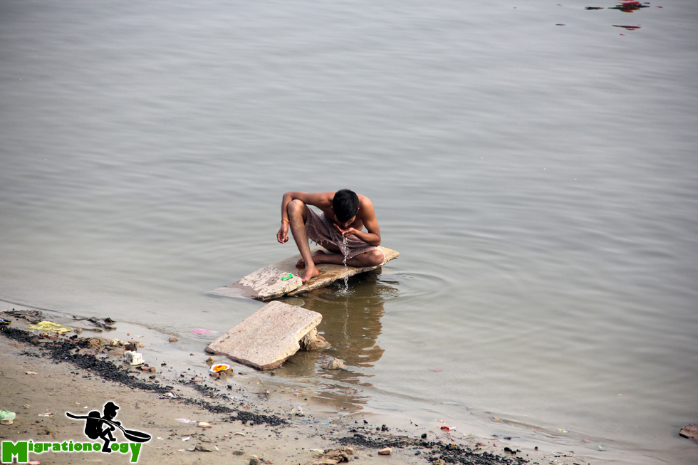Drinking from the Ganges River