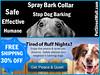 Safe and Effective Spray Bark Collar