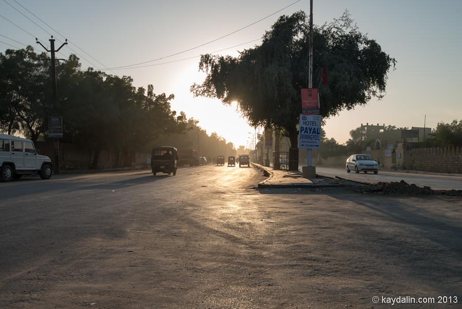 Джайсалмер, закат в Индии