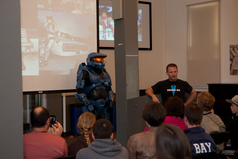 Blue Spartan at Young Makers Presentation