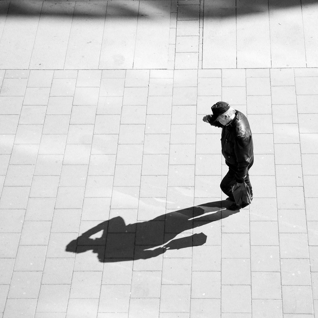 Low Light Buddy of Mine, street photography, black and white, shadow