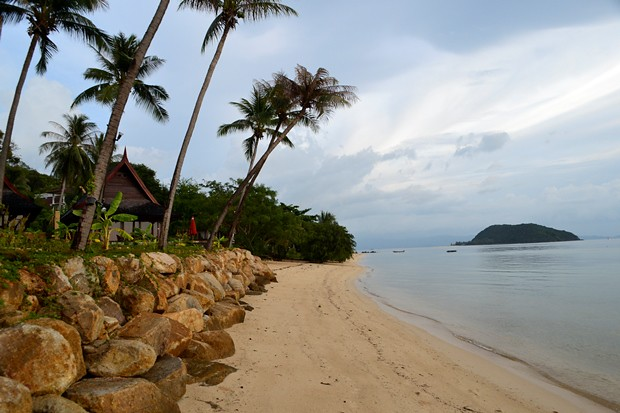 The secluded beach