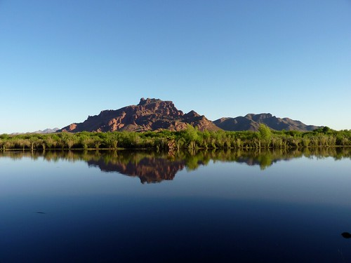morning blue red arizona sky mountain reflection nature water forest river landscape outdoors mirror site day desert salt bank clear national shore area granite recreation reef sonoran tonto mesa mcdowell refelect