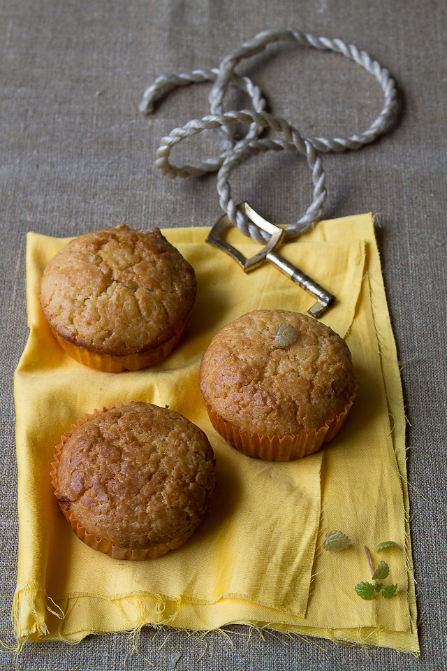 Lemon Curd Marble Muffins