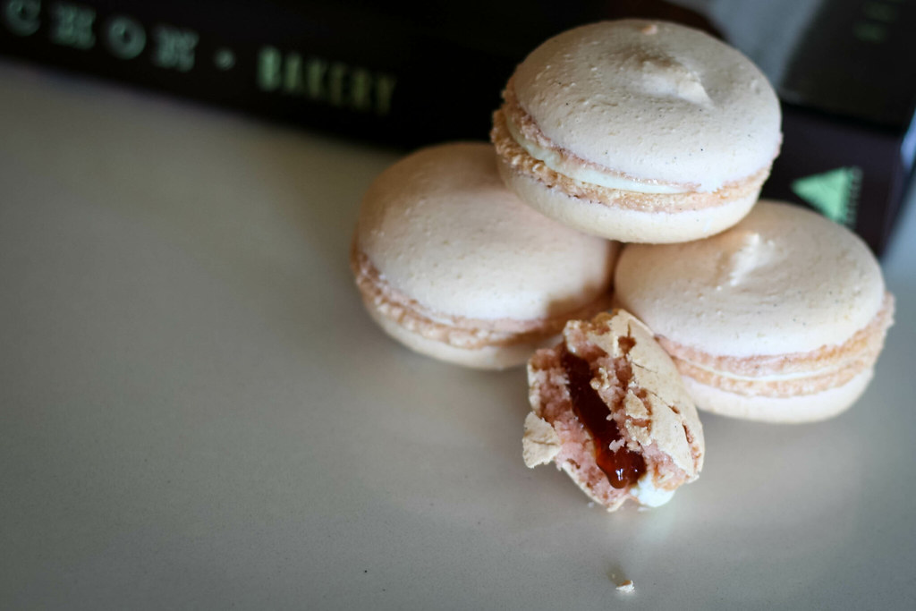 Guava & Cream Cheese Macarons