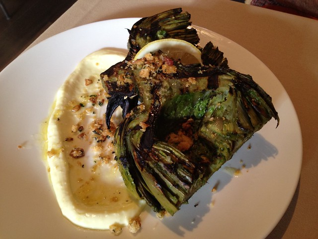 Grilled jumbo California artichoke - Fable