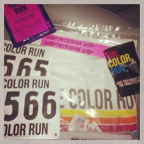 Color Run on Saturday. There is even an extra packet of color and a  headband. :)