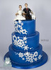 W9148 blue winter wedding snowflake cake toronto oakville