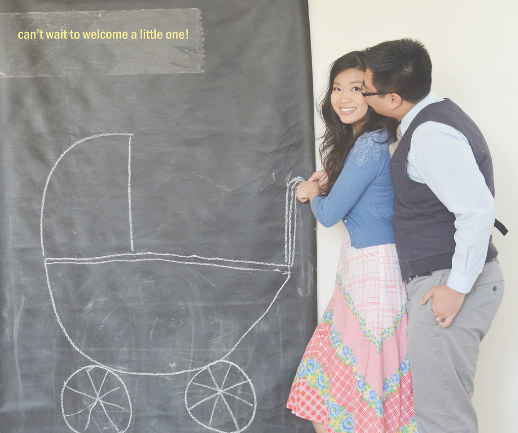 AH baby carriage pregnancy announcement