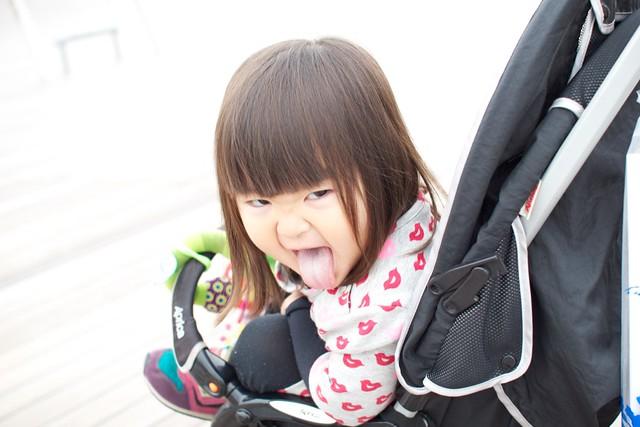 怒られた3歳の娘が2歳のときの写真