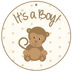 it's a boy tag