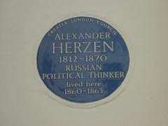 Photo of Alexander Herzen blue plaque