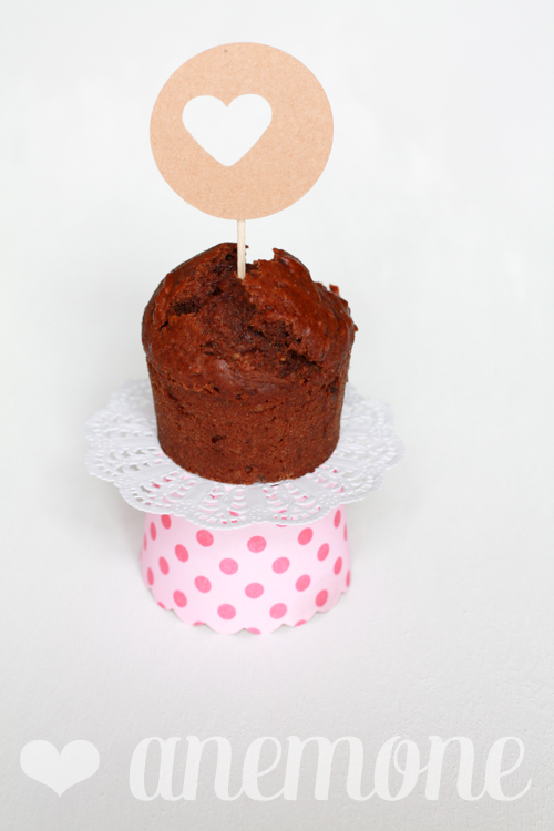 Muffins con banane e cacao