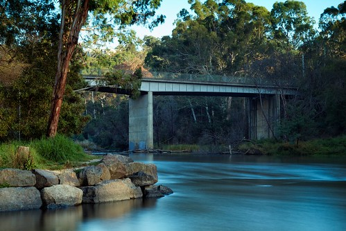 Dawn Breaks Over The Warrandyte Bridge, Yarra River, Victoria