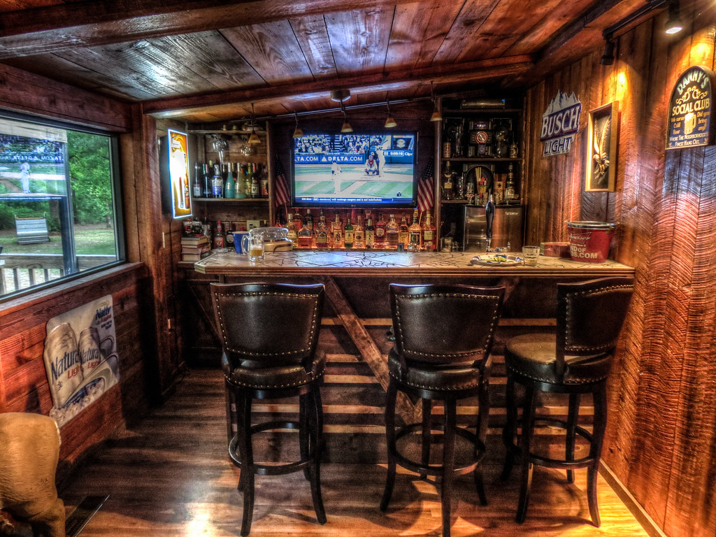 Backyard Man Cave Plans : man cave bar by live to fish on flickr man