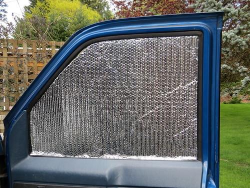 Foil insulation for Astro campervan