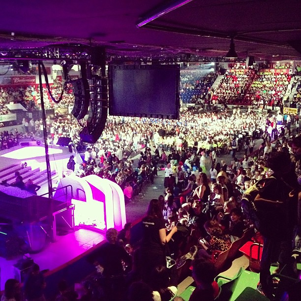 #weday behind the screens. HUGE crowd! #telusforweday