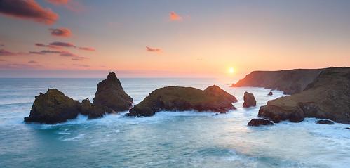 sunset sea landscape coast