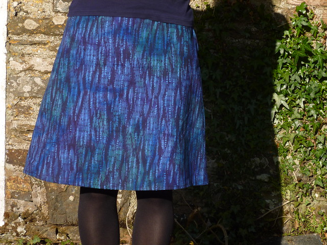 New Look pattern 6053 made from a cotton batik fabric.