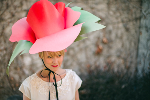 Paper Flower Hat