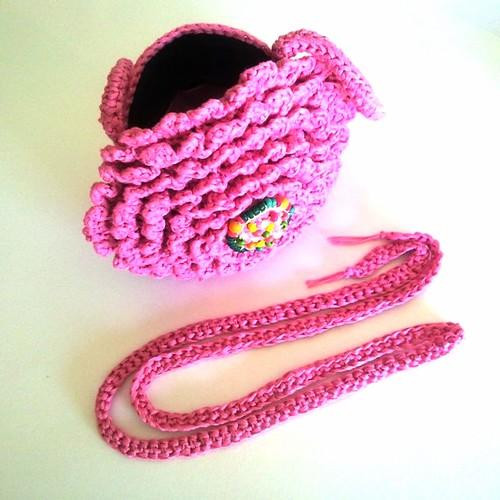 Bolso crisantemo rosa mexicano