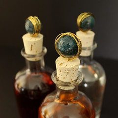 Marble Topped Spirit Bottles