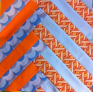 For Kim. Orange blue grey
