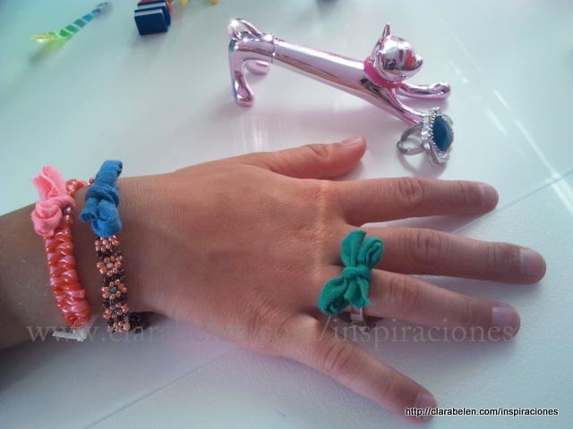 Manualidades con niños: anillos con estilo anudando lazos