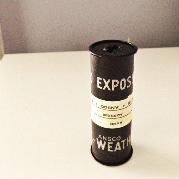 The roll of film from inside my new vintage camera. I dropped it off today to see if anything develops.  #pictapgo_app