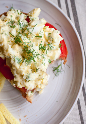 Egg Salad Toasts with Fennel and Lemon Aioli