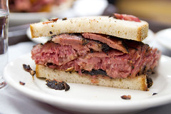 Pastrami sandwich innards