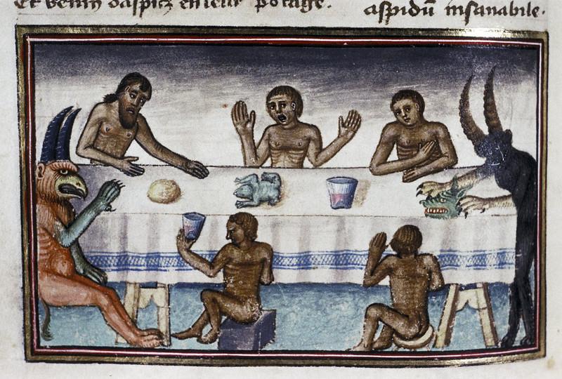 Demons From The Livre de la vigne nostre Seigneur, 1450 - 70 (16)