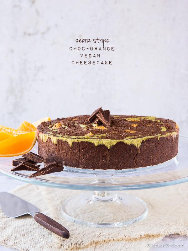 Vegan Choc-Orange Cheesecake