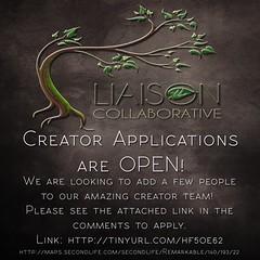 The Liaison Collaborative Creator Applications are OPEN