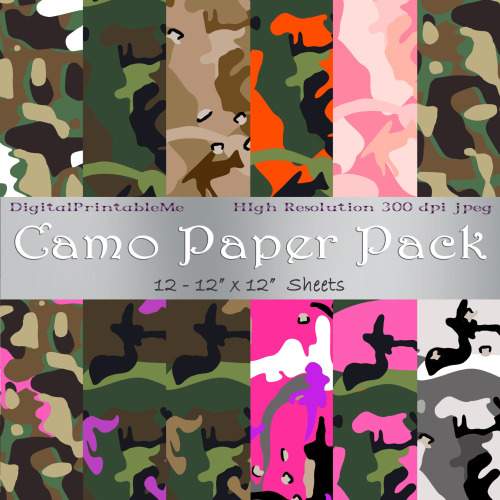 image relating to Camo Printable Paper named Camo paper printable