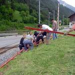 2008 71. Bezirksmusikfest in Mörel - Zeltauf- und