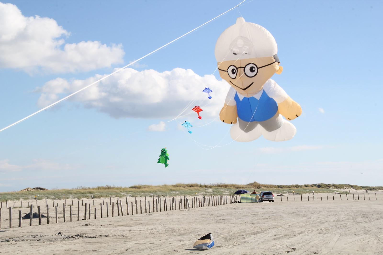Alltagsfluchten Strand mit Kite