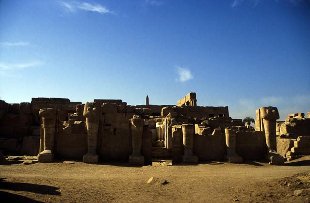 Ägypten 1999 (331) Karnak-Tempel: Akh-menu des Thutmosis III.