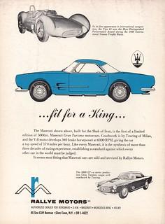 1960 Maserati 5000 GT, 3500 GT, & Tipo 61