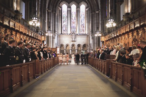 Maria & Lee's ceremony, Glasgow University Chapel