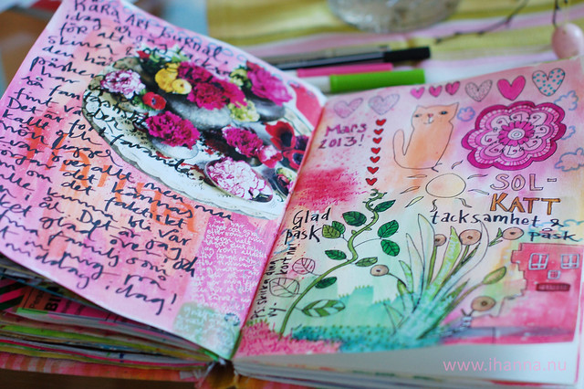 Art Journaling Peek: Easter Doodles