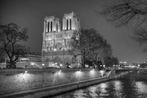 Notre Dame Paris along the Seine River France