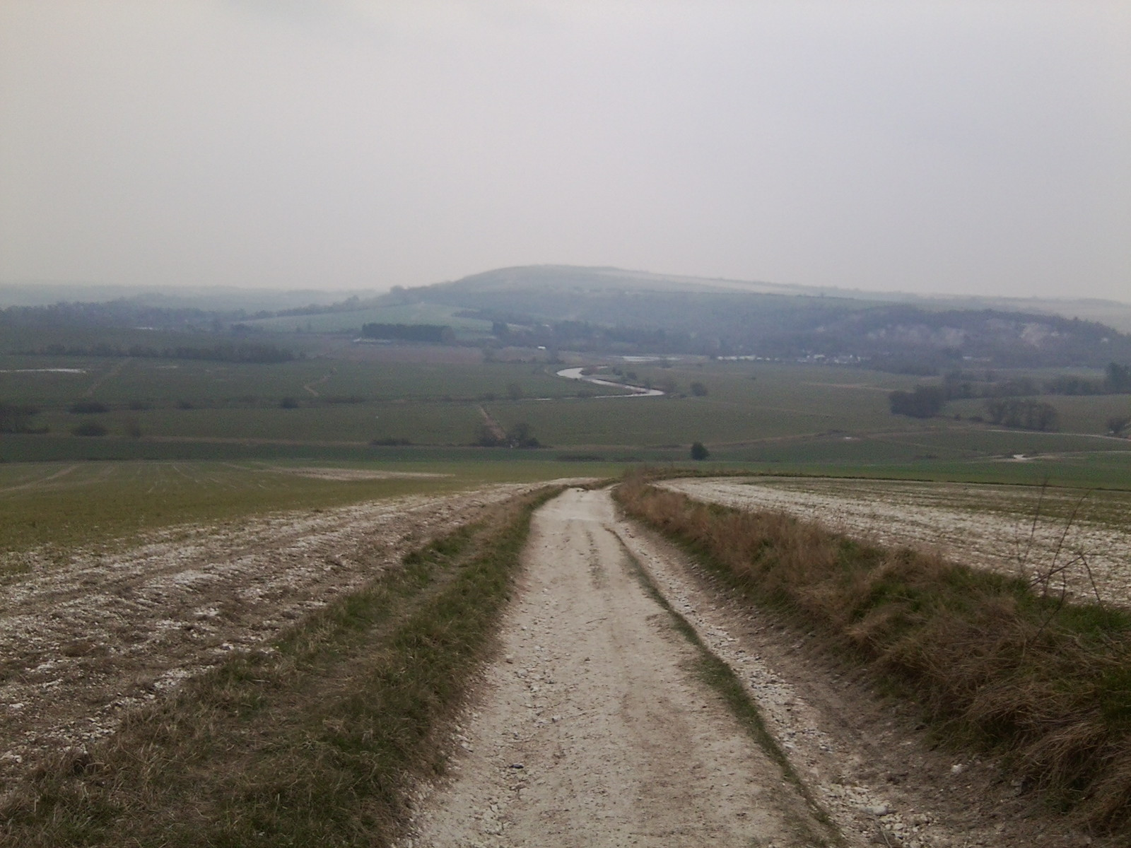 South Downs Way Looking back to Amberley. Amberley to Pulborough