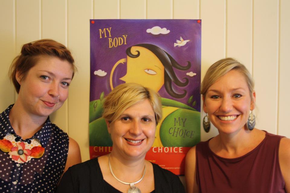 Senator Larissa Waters and Children by Choice staff