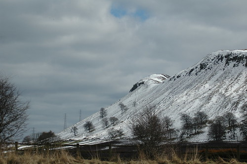 a cold wintery Benarty Hill in Fife, taken from the M90.
