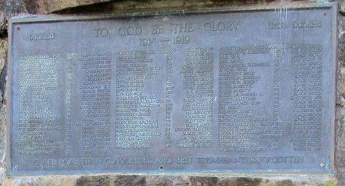 Dunkeld War Memorial WW1
