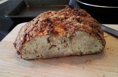 Gluten-free soda bread cut