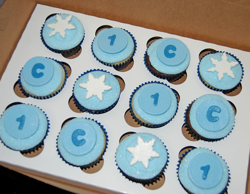1st birthday winter wonderland cupcakes