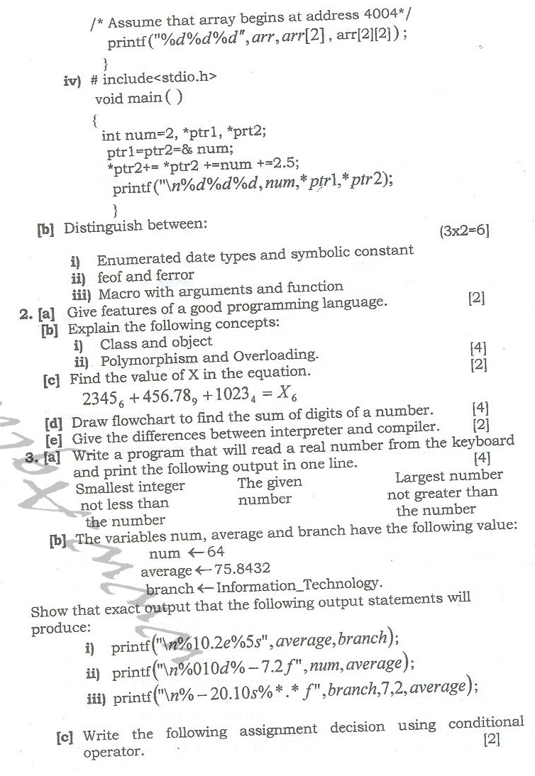 DTU Question Papers 2010 – 2 Semester - End Sem - IT-114