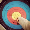 Target from Saturday at GG #Archery Range. I've got some work to do...